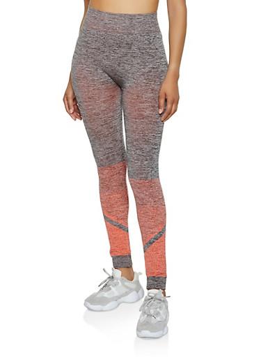 Color Block Active Leggings | 0058038347881,CORAL,large