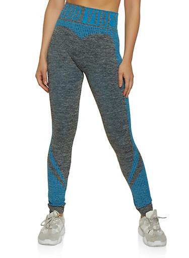 Good Vibes Activewear Leggings,TURQUOISE,large