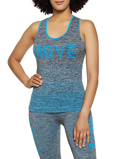 Move Seamless Active Tank Top,TURQUOISE,large