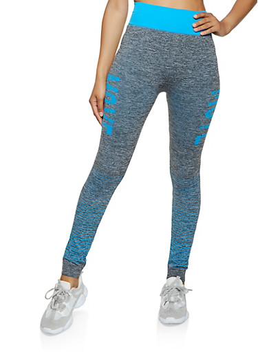 Move Seamless Active Leggings,TURQUOISE,large