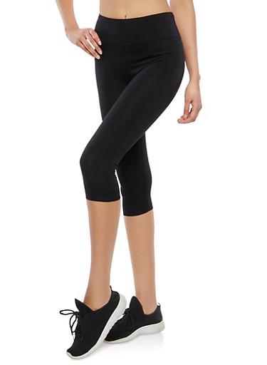 Cropped Activewear Leggings with Back Pocket Zipper,BLACK,large
