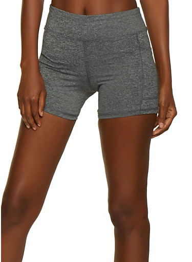 Side Pocket Bike Shorts,GRAY,large
