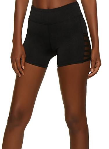 Mesh Insert Bike Shorts,BLACK,large