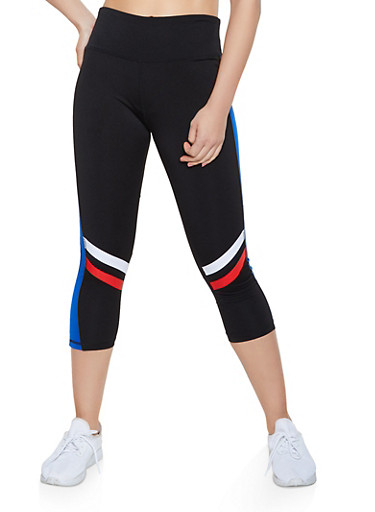Capri Activewear Leggings,BLACK,large