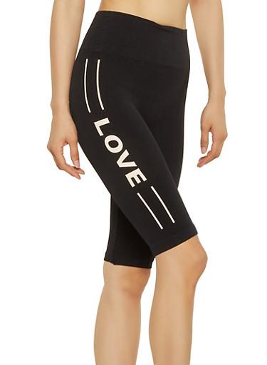 Love Bike Shorts,BLACK,large