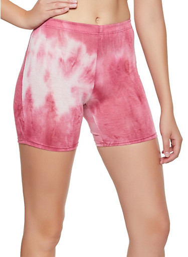 Tie Dye Bike Shorts | 0060074010058,PINK,large
