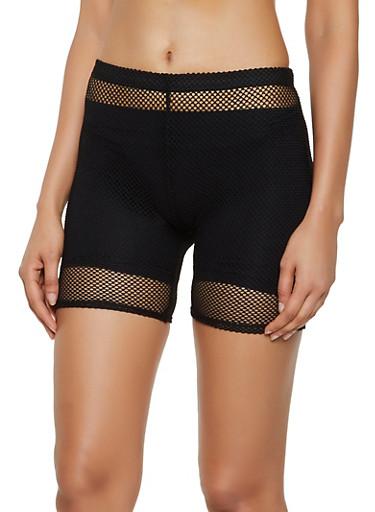 Fishnet Bike Shorts | 0060074010065,BLACK,large