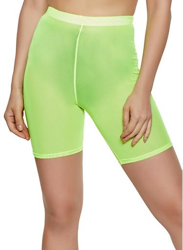 Mesh Bike Shorts | 0060074015006,NEON YELLOW,large