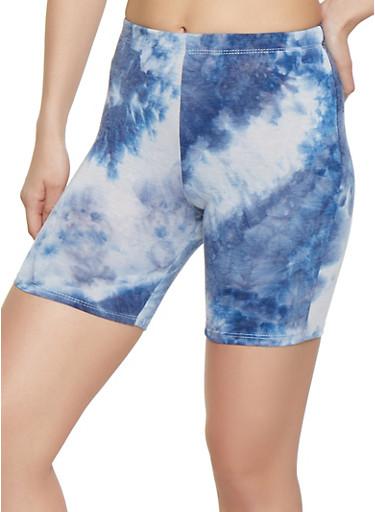 Tie Dye Bike Shorts,NAVY,large