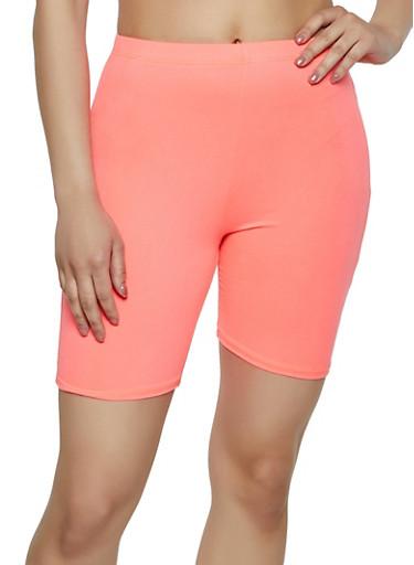 Neon Knit Bike Shorts,NEON PINK,large
