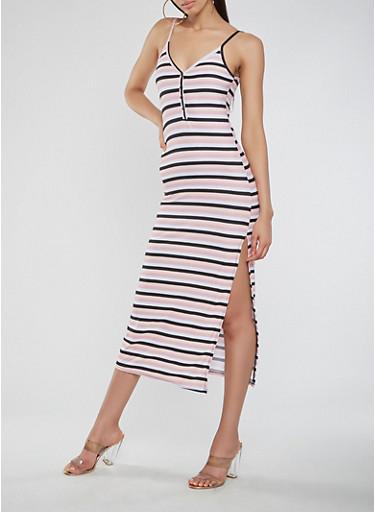 Striped Midi Tank Dress | Tuggl