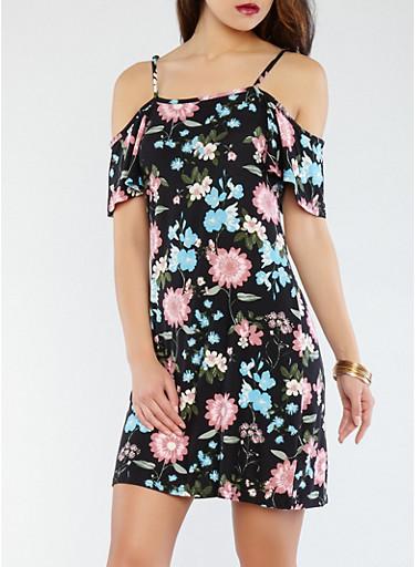 Soft Knit Floral Off the Shoulder Dress | Tuggl