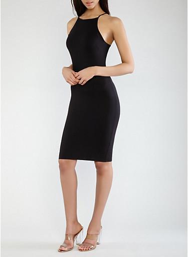 Soft Knit Tank Dress,BLACK,large