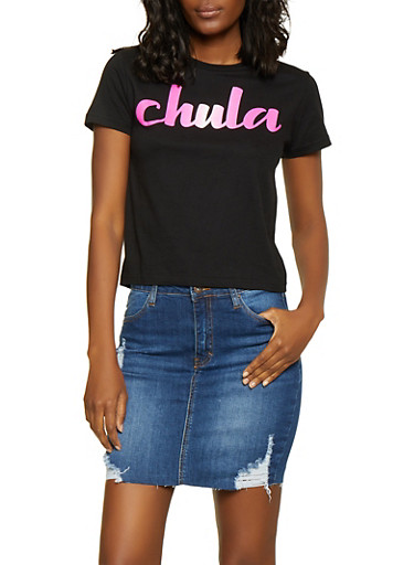 Chula Graphic Tee,BLACK,large