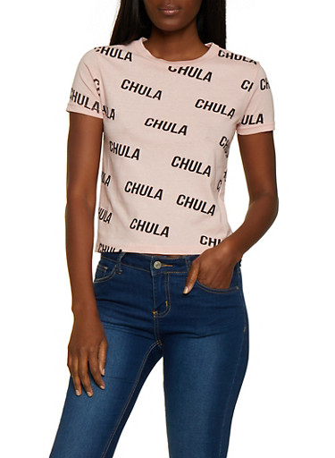 Chula Graphic T Shirt,MAUVE,large
