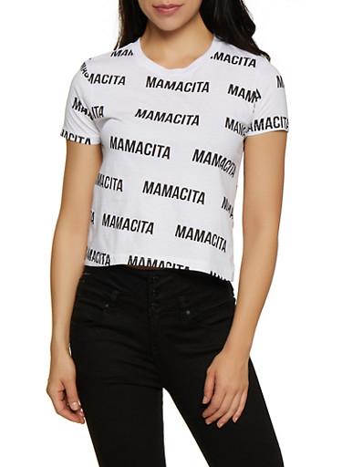 Mamacita Graphic T Shirt,BLACK/WHITE,large