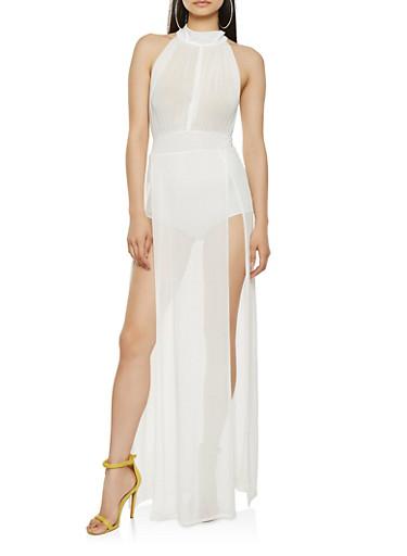 Mesh Split Side Maxi Dress | Tuggl