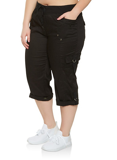Plus Size Cargo Capri Pants at Rainbow Shops in Jacksonville, FL | Tuggl