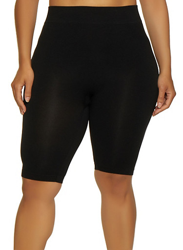 Plus Size Bike Shorts | 0960062703870,BLACK,large