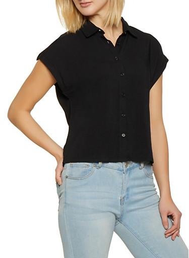 Love Graphic Shoulder Tape Shirt,BLACK,large