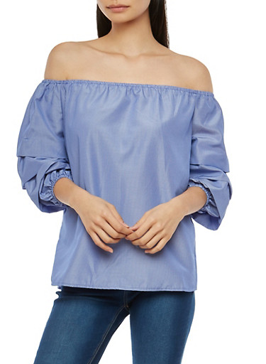 Tiered Sleeve Off the Shoulder Top | Tuggl