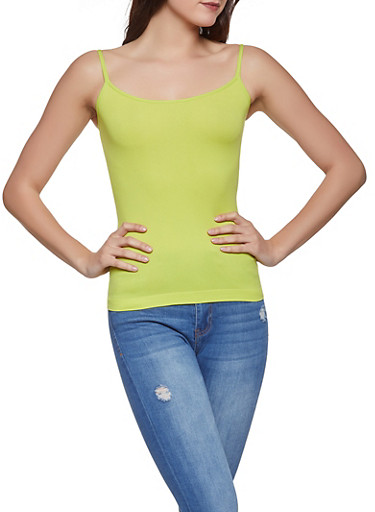 Seamless Cami,LIME,large
