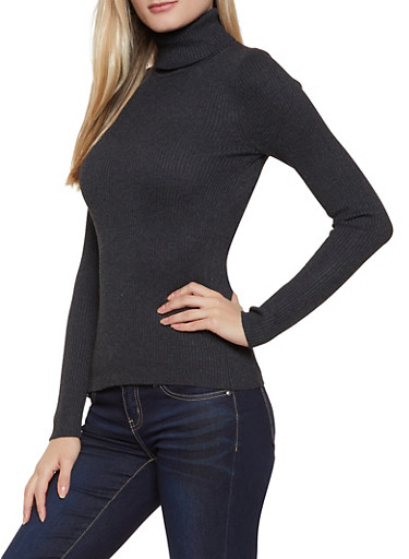 Long Sleeve Turtleneck Sweater | 1020054263660,CHARCOAL,large