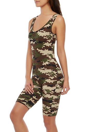 Soft Knit Camo Catsuit,CAMOUFLAGE,large