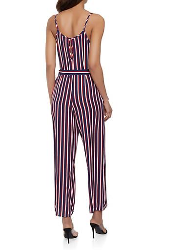 3b76745ef94 Sleeveless Striped Wide Leg Jumpsuit - Rainbow