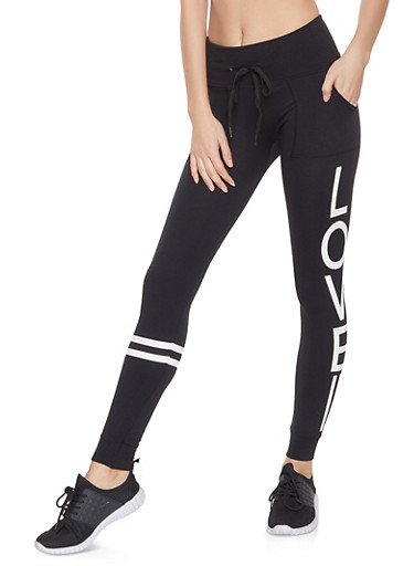 Love Graphic Joggers,BLACK,large