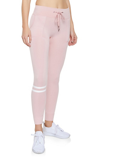 Love Graphic Joggers,PINK,large