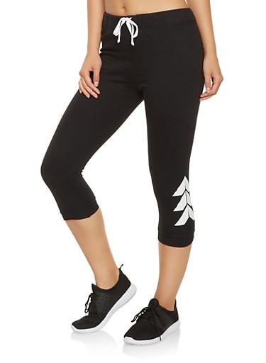 Brooklyn Graphic Capri Sweatpants,BLACK,large