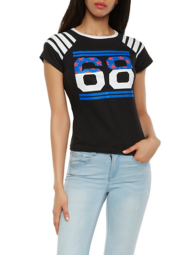 Americana Graphic Tee,BLACK,large