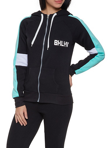 BKLYN Graphic Sweatshirt,BLACK,large