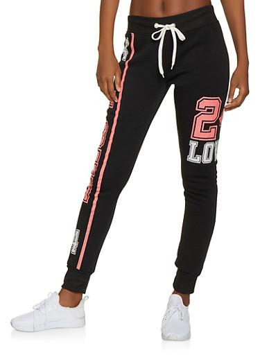 Love 24 Sweatpants,BLACK,large