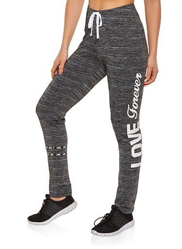 Love Forever Active Pants,CHARCOAL,large