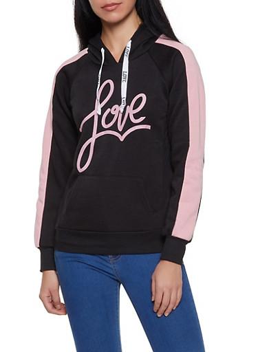 Love Hooded Sweatshirt,MAUVE,large