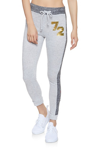 72 Graphic Knit Joggers,CHARCOAL,large