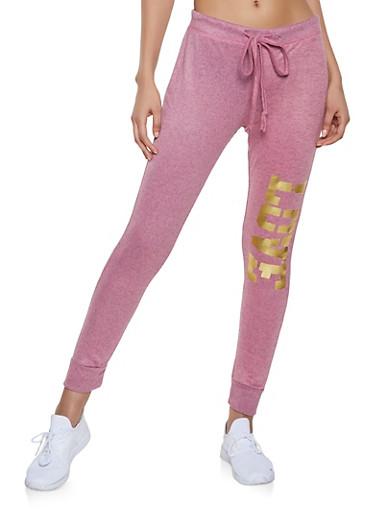 Love Graphic Sweatpants | 1056038348671,BLUSH,large
