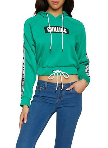 Just Chill Graphic Tape Sweatshirt,HUNTER,large