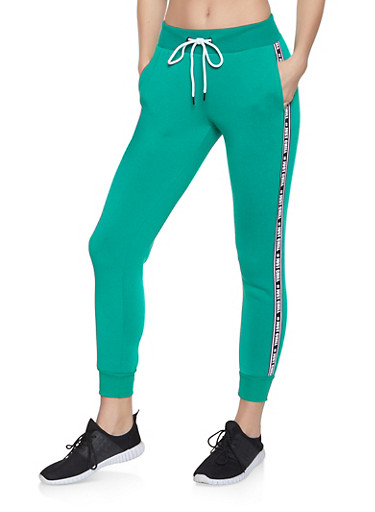Just Chill Graphic Tape Sweatpants,HUNTER,large