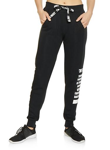 The Best Graphic Sweatpants,BLACK,large