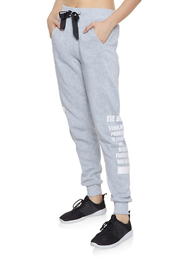 The Best Graphic Sweatpants,GRAY,large
