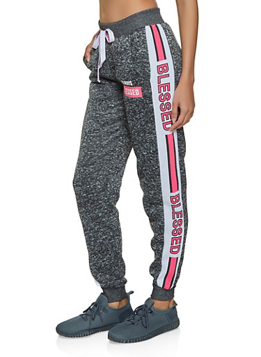 Always Blessed Knit Joggers,CHARCOAL,large