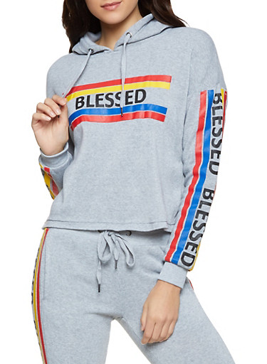 Blessed Pullover Sweatshirt,HEATHER,large