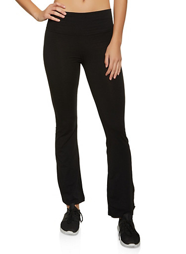 Flared Casual Pants,BLACK,large