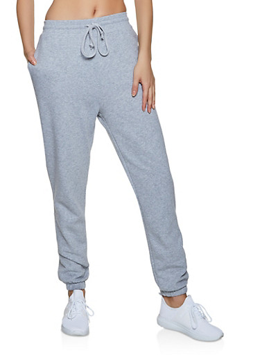 Fleece Lined Solid Joggers | 1056054261749,HEATHER,large
