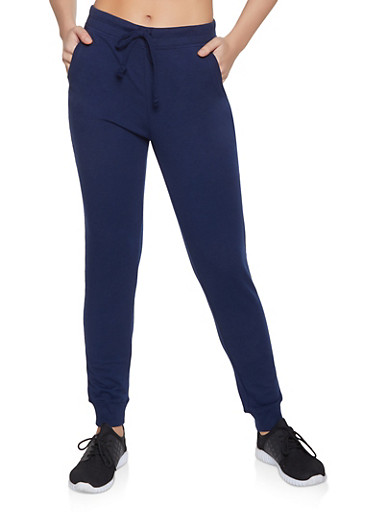 Solid Joggers,NAVY,large