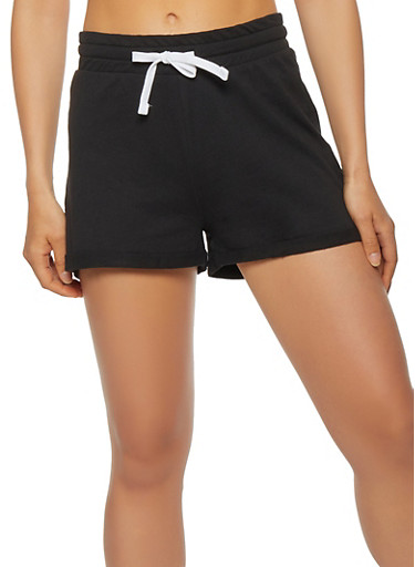 Fixed Cuff Shorts,BLACK,large