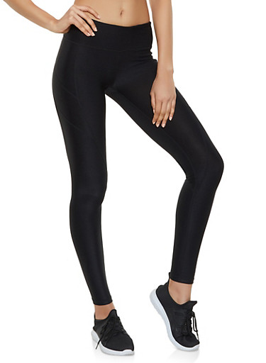 Reebok Active Leggings with Stitch Detail,BLACK,large